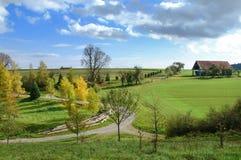 Rural landscape in autumn Stock Images