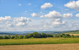 Rural landscape in Auvergne region Royalty Free Stock Images