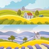 Rural Landscape Banner Stock Photos