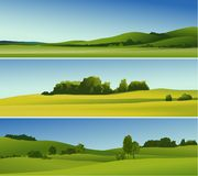 Rural landscape banners Stock Images