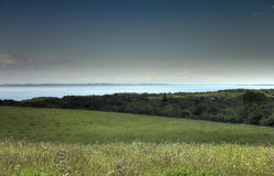 Rural landscape and bay Royalty Free Stock Photo