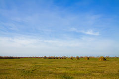 Rural landscape blue  sky Royalty Free Stock Photo
