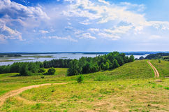 Rural landscape on Braslav lakes Stock Image