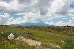 Rural landscape in Cappadocia, Turkey Royalty Free Stock Image
