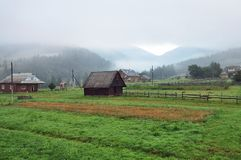 Rural landscape in the Carpathian Mountains Stock Image