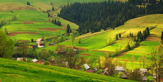 Rural landscape in the Carpathian mountains Royalty Free Stock Photography