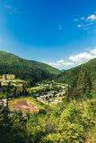 Rural landscape in Carpathians Stock Image