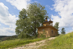 Rural landscape with a chapel Royalty Free Stock Photos