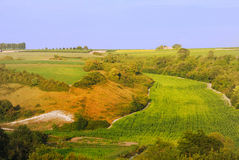 Rural landscape in Charentes Stock Image