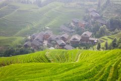 Rural landscape of China Stock Photography