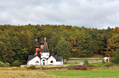Rural landscape with church Royalty Free Stock Image