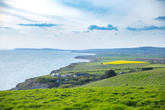 Rural landscape and cliffs on the Isle of Wight Royalty Free Stock Images