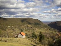 Rural landscape with clouds Royalty Free Stock Images
