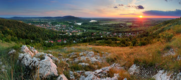 Rural landscape country in Bratislava city royalty free stock images