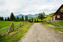 Rural landscape with country house of local farm p Stock Photography