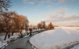 Rural landscape covered with snow Stock Image