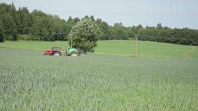 Rural landscape cropland stock footage