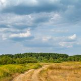 Rural landscape with dirt road Stock Photo