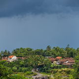 Rural landscape with dramatic clouds, Java, Indonesia Stock Photos