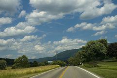 Rural Landscape, Early Summer. Early Summer Landscape, East Tennessee stock image