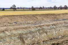 Rural landscape and earthwork. Earthwork scenery in a rural landscape Stock Images
