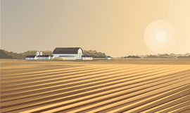 Rural landscape. Farm. Royalty Free Stock Photography