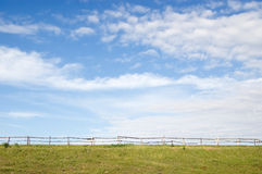 Rural landscape with fence Stock Photography