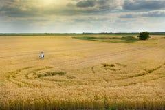 Rural landscape of fertile land Stock Images