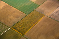 Rural landscape with fields Stock Photography