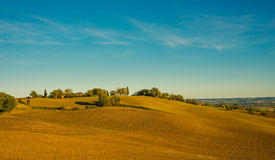 Rural landscape with fields in Midi-Pyrenees Stock Photo