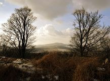 Rural Landscape in Bohemian Paradise. Rural Landscape form Kumburk, Bohemian Paradise in Czech republic stock image