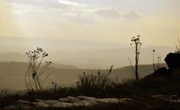 Rural Landscape in Bohemian Paradise. Rural Landscape form Kumburk, Bohemian Paradise in Czech republic stock photo