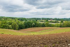 Rural Landscape of Hartford County Farmland in Northern Maryland.  Royalty Free Stock Photos