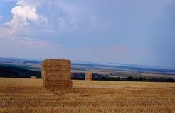 Rural landscape after harvest Royalty Free Stock Images