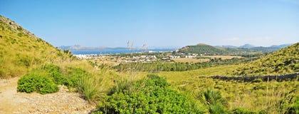 Rural landscape, hinterlands of Majorca, Formentor, Bay of Pollenca Royalty Free Stock Image