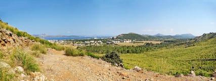 Rural landscape, hinterlands of Majorca, Formentor, Bay of Pollenca Royalty Free Stock Photos