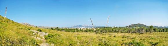 Rural landscape, hinterlands of Majorca, Formentor, Bay of Pollenca Stock Photos