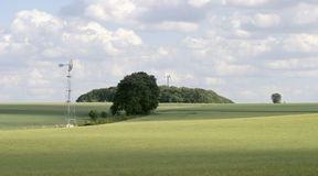 Rural landscape in Hohenlohe Royalty Free Stock Photos