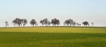 Rural landscape in Hohenlohe Stock Images