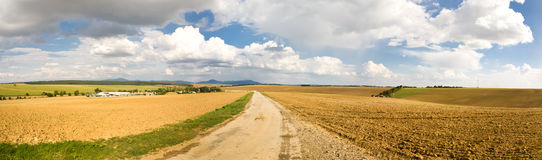 Rural landscape on the horizon Royalty Free Stock Photos