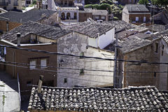 Rural landscape of houses and roofs Stock Photography