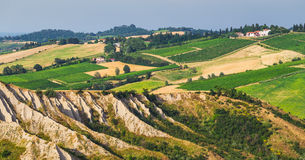 Rural landscape with houses standing alone in the province of Tu Stock Images