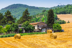 Rural landscape with houses standing alone in the province of Tu Royalty Free Stock Photo