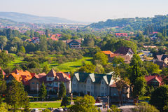 Rural landscape with houses in Transylvania, Romania Royalty Free Stock Photos