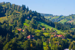 Rural landscape with houses in Transylvania, Romania Royalty Free Stock Photography