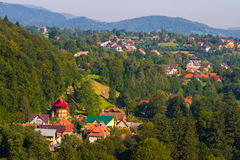 Rural landscape with houses in Transylvania, Romania Stock Photography