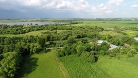 Rural landscape in June in central Russia. Rural landscape in June in a central Russia stock video footage