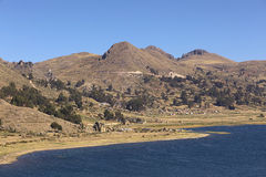 Rural Landscape at Lake Titicaca, Bolivia Stock Photography