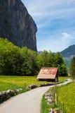 Rural landscape in Lauterbrunnen, Switzerland Stock Images