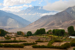 Rural landscape, lower Mustang, Nepal Stock Images